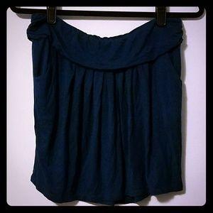 Flirty Venus deep teal blue stretchy skirt, sz L